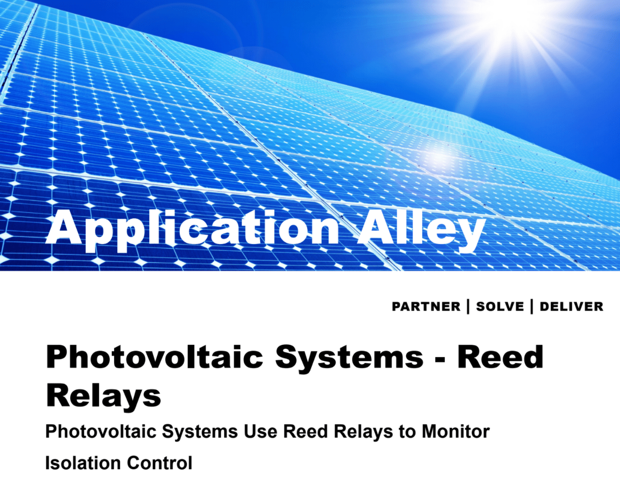 Application Alley: Photovoltaic Systems