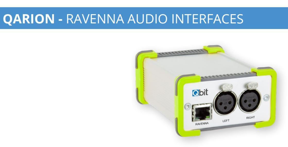 QBit QARION - RAVENNA and AES67 AUDIO INTERFACES