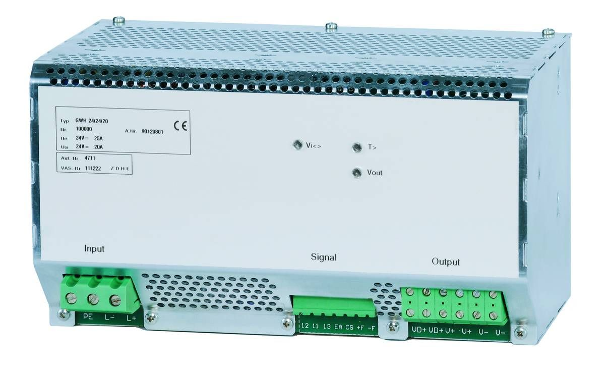 DC/DC converters - The series GWH
