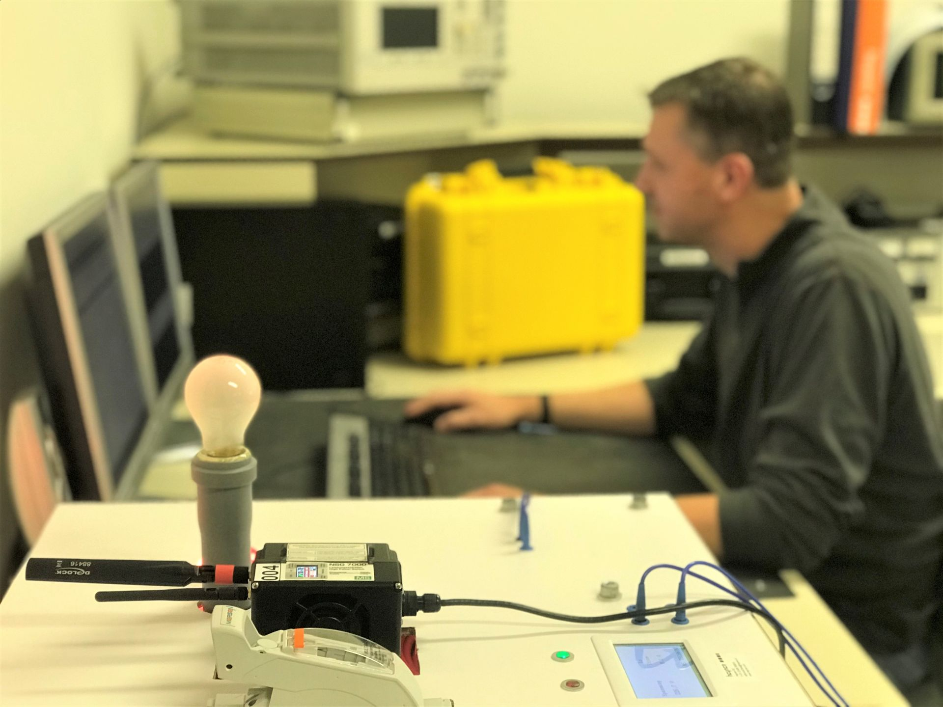 Heynen maintains, repairs and calibrates MS-Technik equipment on a daily basis