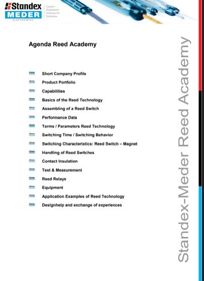 Agenda Reed Academy