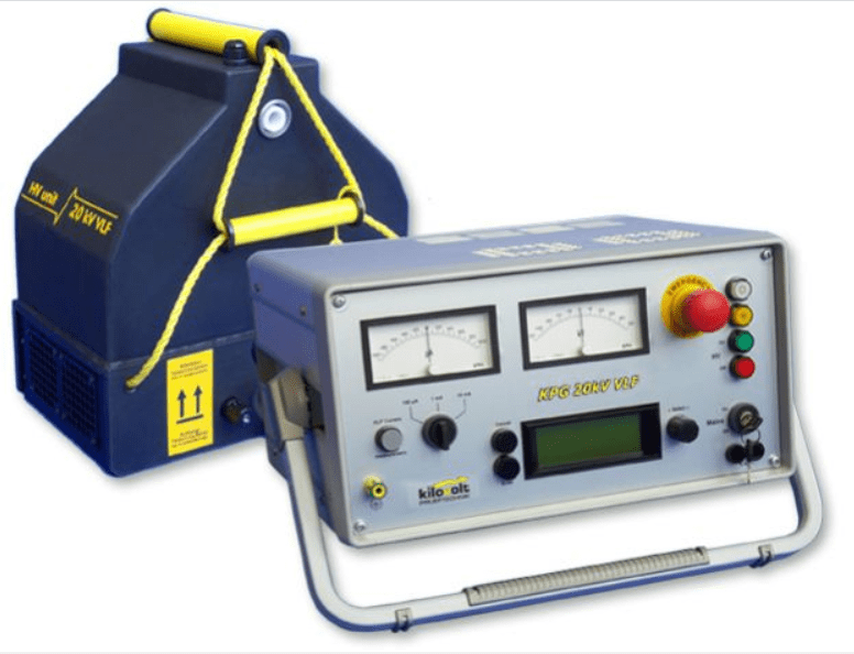 The portable cable test set for testing medium voltage cables