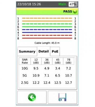 AEM TestPro CV100 Multi-gig Link Speed Qualification SNR/BERT