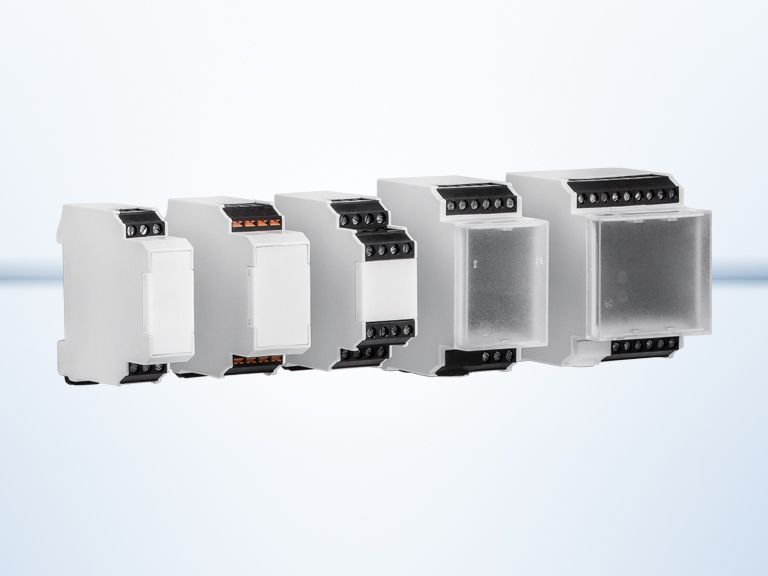 Modular DIN rail housings